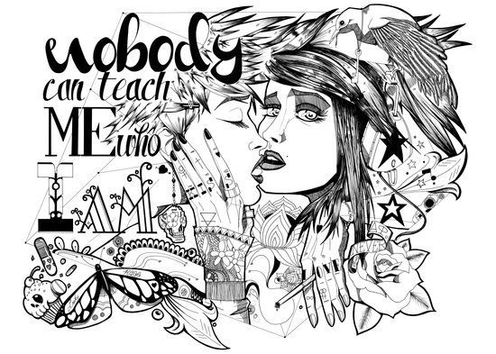 Nobody can teach me who I am Art Print