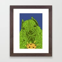 cthulhu wants a cookie Framed Art Print