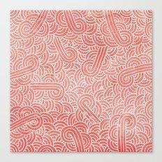 Peach Echo And White Zen… Canvas Print