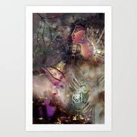 Gold and Glass Art Print