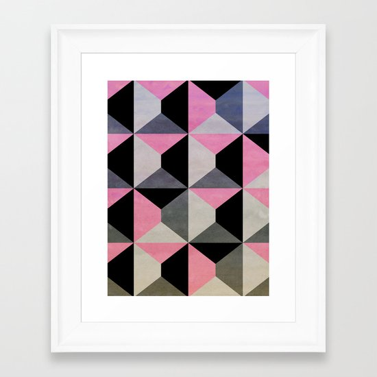 colour + pattern 9 Framed Art Print