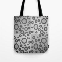 Boxes & Bubbles In Mono Tote Bag