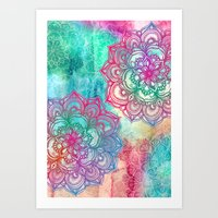 Round & Round the Rainbow Art Print