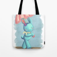 Walking On A Rainy Day Tote Bag