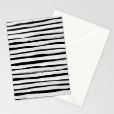 Black and White Stripes II Stationery Cards