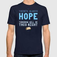 There's Always Hope... Mens Fitted Tee Navy SMALL