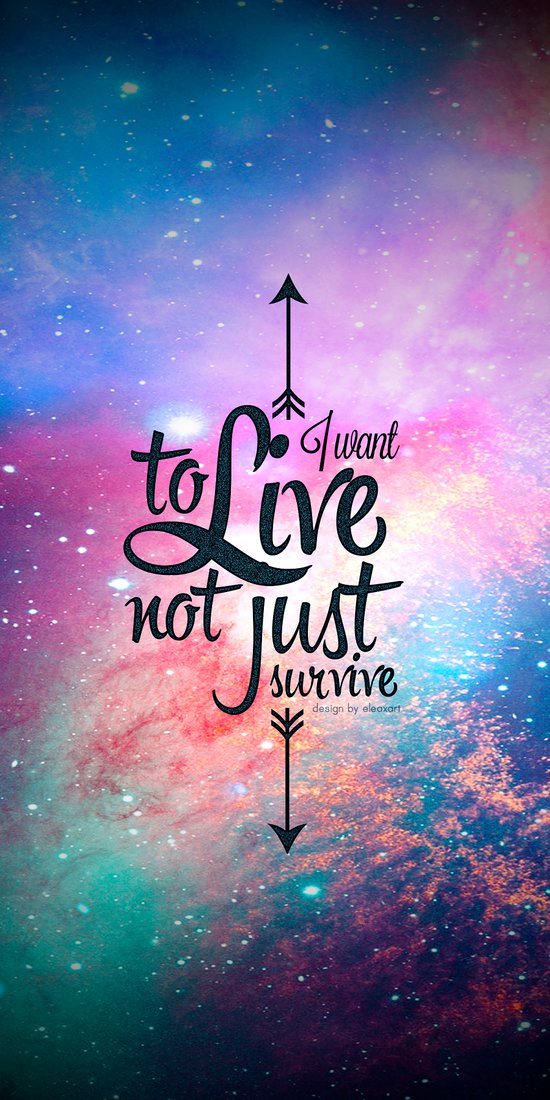 I want to live not just survive. Art Print
