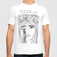 Look Into Her Eyes Mens Fitted Tee White SMALL