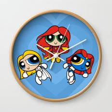 Sisterhood of Evil Puffs Wall Clock
