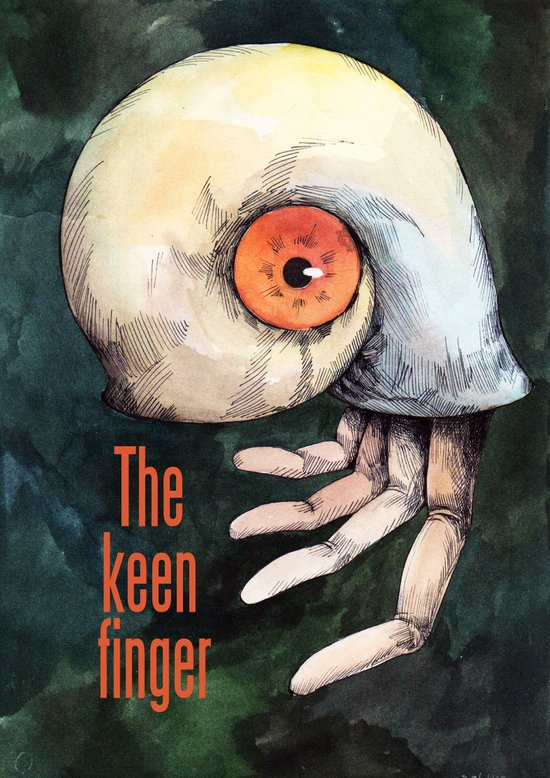 The keen finger Art Print