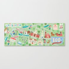 westborough map Canvas Print