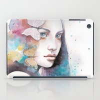 Lady With A Butterfly iPad Case