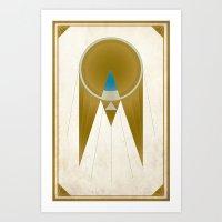 Art Deco Golden Snitch Art Print