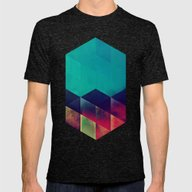 3styp Mens Fitted Tee Tri-Black SMALL