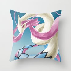 Pocket monster - Milotic the Water Snake Throw Pillow