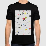 Painted Terrazzo 1 Mens Fitted Tee Black SMALL