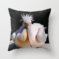 Pelikan Throw Pillow