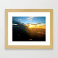 Above the Endless Sky Framed Art Print
