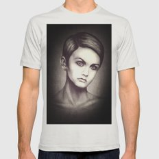 Twiggy Mens Fitted Tee Silver SMALL
