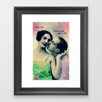 SHITLOVE Framed Art Print