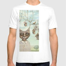 Bird Houses Mens Fitted Tee SMALL White