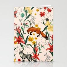 Floral Fox Stationery Cards