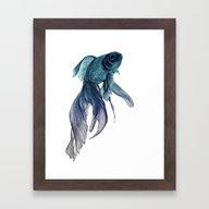 Ombre Fish Framed Art Print