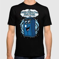 The Little Police Box Mens Fitted Tee Black SMALL