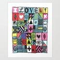 I LOVE U! Art Print