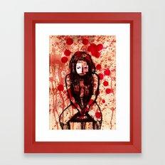 Depressed girl Framed Art Print