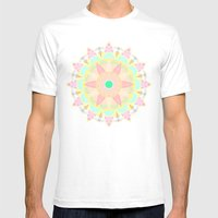 Pastel Mandala Mens Fitted Tee White SMALL