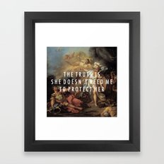 Step to Minerva Framed Art Print