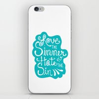 Love The Sinner iPhone & iPod Skin