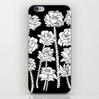 Black And White Roses iPhone & iPod Skin