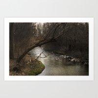 River Bend, Brookston, I… Art Print