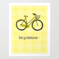Bicyclelove, No. 3 Art Print