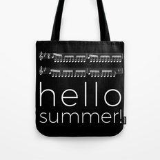 Hello summer! (black) Tote Bag
