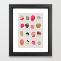 painted pebbles 1 Framed Art Print