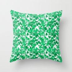 Mindi - painterly painting abstract minimal monochromatic bright boho modern brushstrokes art Throw Pillow