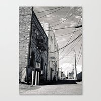 Grit city alley Canvas Print