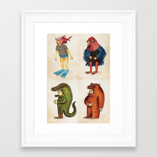 Costumes - Animalados Framed Art Print
