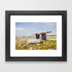 Poulnabrone Dolmen, Clare, Ireland Framed Art Print