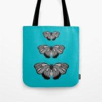 Butterflies On Teal Tote Bag