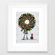Flowerhead girl.  Framed Art Print