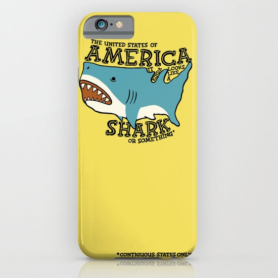 America…   it kinda looks like a shark or something iPhone & iPod Case
