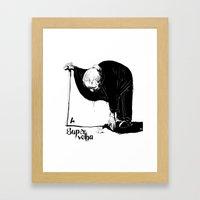 A Super Velha Framed Art Print