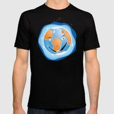 Earth SMALL Black Mens Fitted Tee