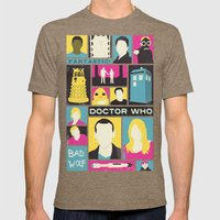 Doctor Who - The Ninth D… Mens Fitted Tee Tri-Coffee SMALL