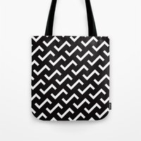 B/W S shape pattern Tote Bag
