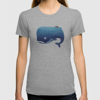 Moby Dick Womens Fitted Tee Athletic Grey SMALL
